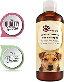 Colloidal Oatmeal Shampoo for Dogs with Sensitive Skin - Natural Dog Shampoo for Itchy Skin - Tear Free Shampoo for Dogs and Puppies - Paw Repair - Enhanced with Vanilla Extract - Pet Odor Eliminator