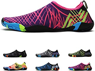 Deyuan Quick-Dry Water Shoes Aqua Socks Barefoot for Outdoor Beach Swim Surf,  Anti-Slip Shoes for Men/Women/Kids