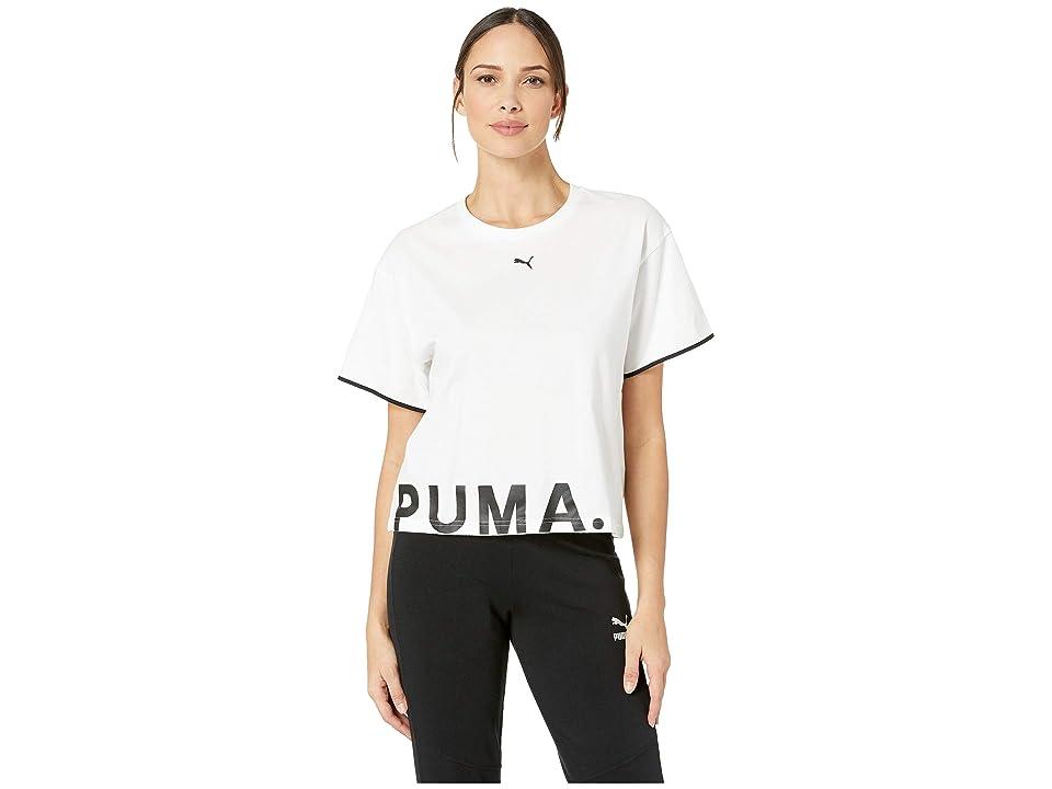 PUMA Chase Cotton Tee (PUMA White) Women
