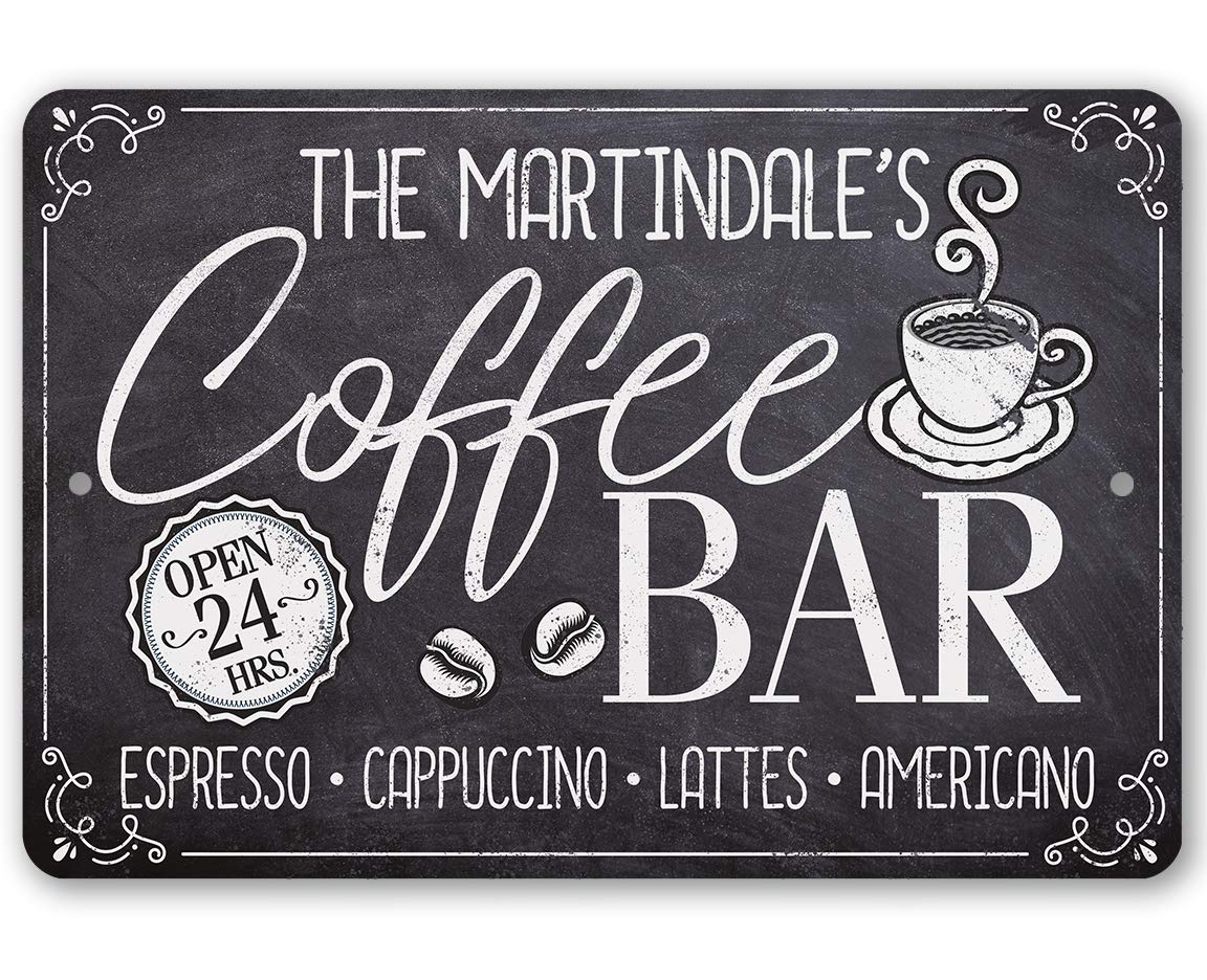 Personalized Coffee Bar Open 24 Price reduction Metal Durable Sign OFFicial store -