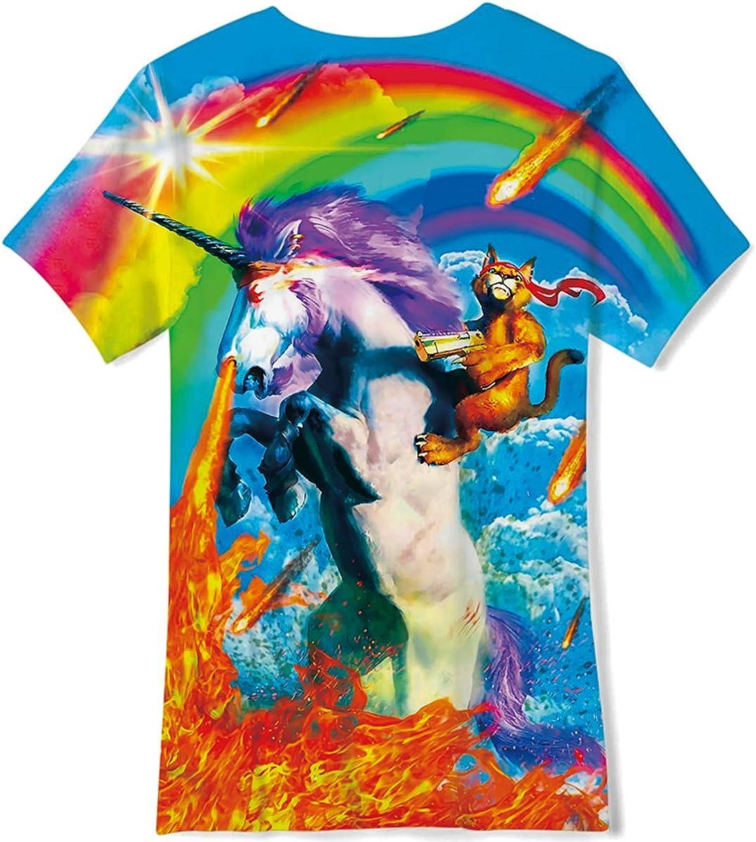 Loveternal Ragazzo Ragazze T-Shirt 3D Stampa Maglietta Manica Corta Novita Divertenti Canotta per Bambino Bambina 6-16 Anni