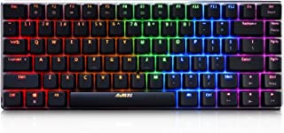 Ajazz AK33 82 keys mechanical keyboard English layout gaming keyboard RGB backlight black switch wired keyboard