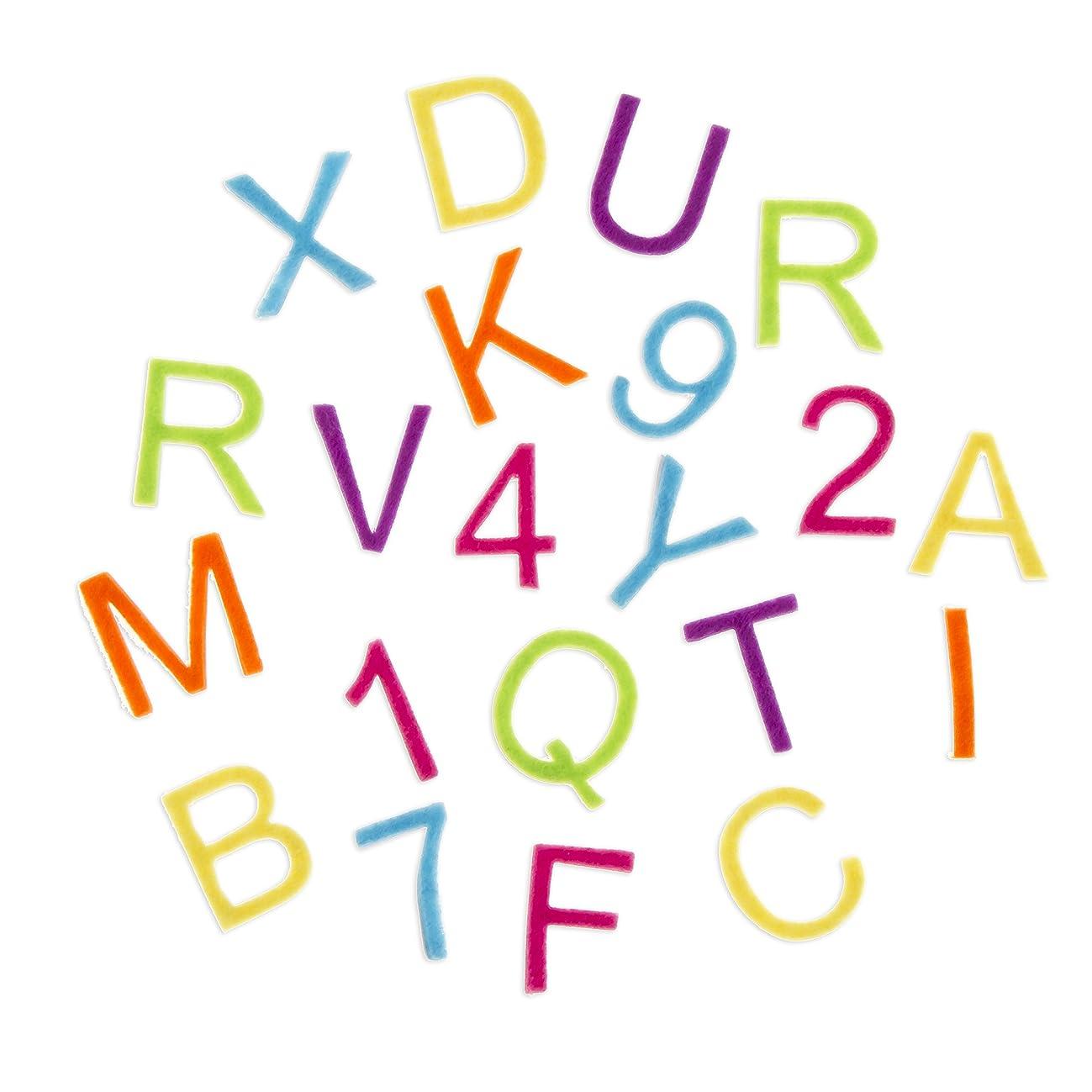 Darice Bright Color Felt Alphabet Stickers