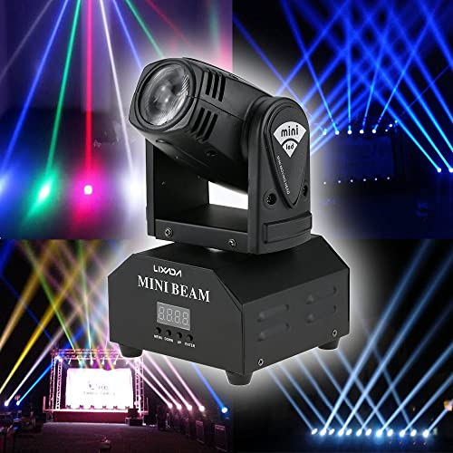 Lixada Mini Moving Head Sound Activated RGBW Stage Light master-slave auto running 11/