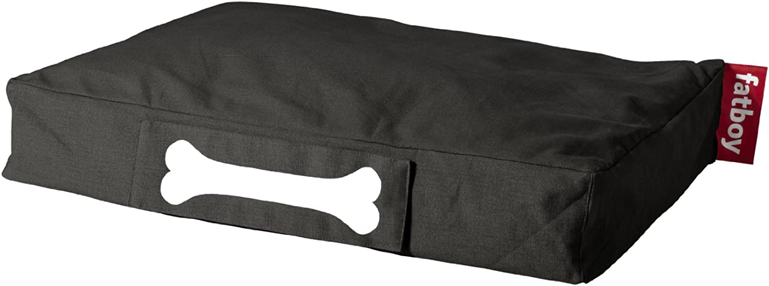 Fatboy Doggie Lounge Stonewashed Pet Bed, Small, Black