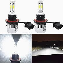 Alla Lighting 8000lm 9008 H13 LED Headlight Bulbs Xtreme Super Bright CSP LED H13 Bulb Xenon White H13 9008 LED Headlamp Conversion Kits -Dual Hi/Lo Beam Headlight (Set of 2)