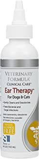 Veterinary Formula Clinical Care Ear Therapy, 4 oz. – Medicated Formula Treats Bacterial, Fungal and Yeast Infections in Dogs and Cats – Cleans, Disinfects and Deodorizes