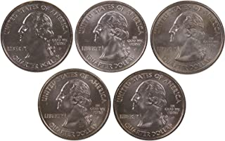 2003 P 25c State Quarter 5 Coin Set Lot Uncirculated Mint State