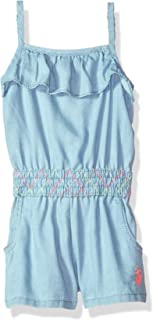 U.S. POLO ASSN. Baby Girl's Romper Shorts
