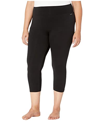 Jockey Active Plus Size Capri Leggings (Deep Black) Women