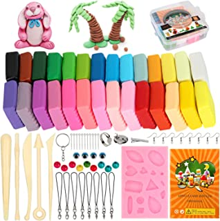 Colovis Polymer Clay Starter Kit,28 Colors Oven Bake Clay,DIY Modeling Clay Blockers with Sculpting Tools Accessories and Easy Storage Box for Kids and Adults.