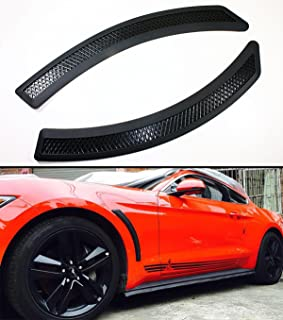Cuztom Tuning Fits for 2015-2017 Ford Mustang Black Mesh Polyurethane Front Fender Side Vent Cover