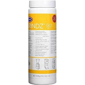 Urnex Grindz Professional Coffee Grinder Cleaning Tablets - 430 Grams - All Natural Food Safe Gluten Free - Cleans Grinder Burr and Casing - Help Extend Life of Your Grinder