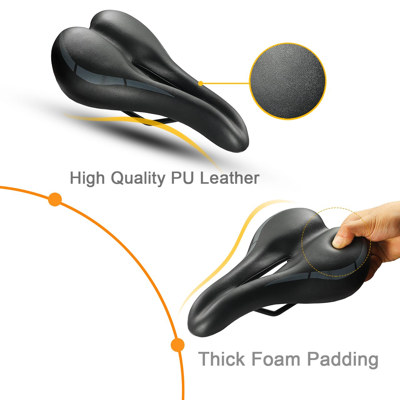 CYCLING BICYCLE MOUNTAIN ROAD BIKE SEAT SADDLE THICKEN SOFT CUSHION FILL