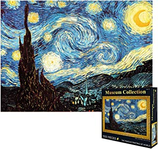 VanStar World Famous Painting Van Gogh Starry Night 1000Pcs Large Jigsaw for Adults Kids - Unique Cut Interlocking Pieces
