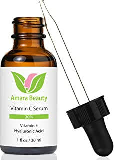 Vitamin C Serum for Face 20% with Hyaluronic Acid & Vitamin E, 1 fl. oz.