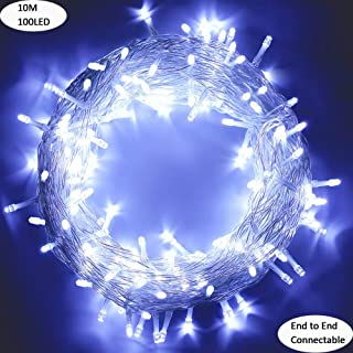 LED String Lights, by MYGOTO, Plug in String Lights, 33FT 100 LED Fairy Lights with 8 Modes Waterproof, Perfect for Indoor and Outdoor Use with 30V Low Voltage Transformer, Extendable (Cool White)