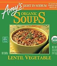 Amy's Organic Lentil Vegetable Soup, Light in Sodium, 14.5-Ounce