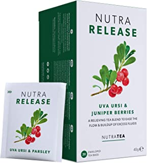 NUTRARELEASE - Kidney Tea | Bloated Stomach Tea – Includes Uva Ursi, Dandelion & Nettle - Assist With Water Retention & Di...