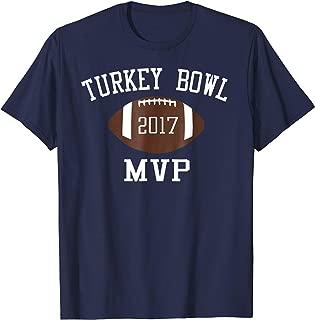 Official 2017 MVP Turkey Bowl TShirt- Thanksgiving Football