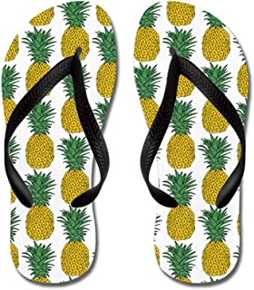 be291de080a1 CafePress - All Over Pineapple Pattern - Flip Flops, Funny Thong Sandals,  Beach Sandals
