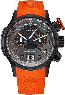 EDOX - Chronorally Reloj de Hombre Cuarzo 48mm Correa de Cuero 38001 TINNO3 NO3
