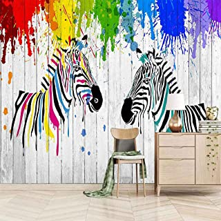 VITICP Adults Kids Wall Stickers Decals Peel and Stick Removable Wallpaper Painted Animal Zebra for Nursery Bedroom Living...