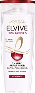LOreal Paris Elvive Total Repair 5 Champú Reparador para El Pelo Dañado - 285 ml