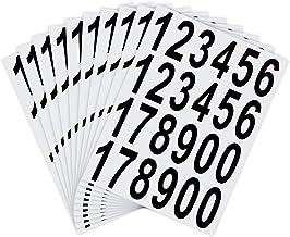 LUTER 10 Vellen Brievenbus Nummers Stickers Waterdicht Zelfklevende Stickers voor Brievenbus, Huis, Deur, Adresnummer, Bin...
