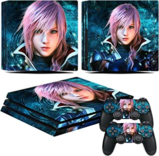 EBTY-Dreams Inc. - Sony Playstation 4 Pro (PS4 Pro) - Final Fantasy XIII (FFXIII) Video Game Lightning Vinyl Skin Sticker Decal