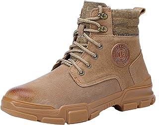 Men's Safety Boots, Steel Toe Cap Trainers Wearable Puncture-Proof Lightweight Casual Walking Work Utility Footwear