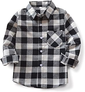 Boys' Plaid Flannel Button Down Shirt