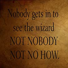 DYTrade Nobody Gets in to See Wizard Not Nob? Funny Spiritual #2 Metal Sign Metal Sign 8