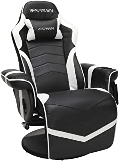 RESPAWN 900 Racing Style Gaming Recliner, Reclining Gaming Chair, in White RSP 900 WHT