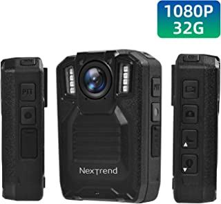 Police Body Camera, NexTrend Full HD 1080P Body-Worn Camera for Law Enforcement with Night Vision and Audio, Body Security Camera for Police Patrol and Personal Use, Built in 32G, Waterproof