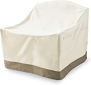 Lumaland Cubierta Lona Protectora Impermeable para Muebles de jardín Adirondack Silla de jardín Silla de Madera 91, 4 (Alto) x 86, 4 (Largo) x 81, 3 (Ancho) cm Beige Oxford 600D 280 g/m²