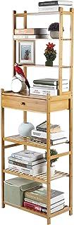 Estantería de baño de bambú con 7 estantes estantería para libros estantería de cocina estantería angular estantería ve...
