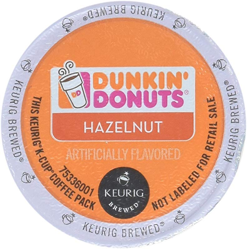 Dunkin Donuts Hazelnut Flavored Coffee K Cups For Keurig K Cup Brewers 32 Count Packaging May Vary