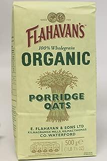 FLAHAVAN'S Organic Porridge Oats, 17 Ounce (Pack of 6)
