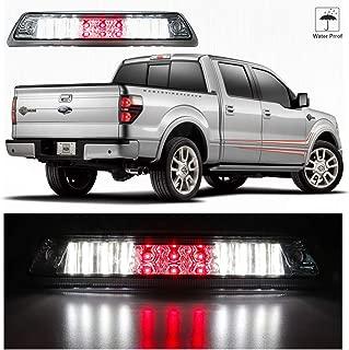Sanzitop LED 3rd Brake Light Rear Tail Cargo Lamp High Mount Brake Light Replacement fit 2009-2014 Ford F-150 AL3Z-13A613-E AL3Z13A613G FO20890104 (Chrome Housing Clear Lens)