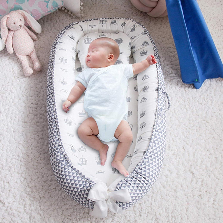 WUQIANG Nid Bébé Lit de nid Portable bébé, Berceau de Voyage avec Berceau Pliable, Berceau de bébé adapté au Nouveau-né (Color : Brown D) Yellow