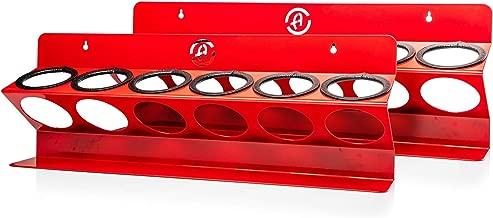 Adam's Garage Bottle Organizer - Heavy Duty, Premium Metal Construction - Wall Mountable, Displays Up to 6 Bottles (Bottle Organizer 2 Pack)