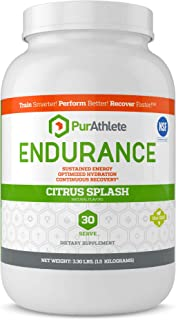 PurAthlete Endurance Hydration Powder + Recovery Drink Electrolyte Replacement with Hydrolyzed Whey Protein Isolate for Athletes - Magnesium, Glutamine, Amino Acids BCAA (Citrus Splash - 30 Servings)