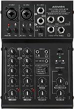 Mini Mixing Console de 4 canais Digital o Mixer EQ de 2 bandas 48V Phantom Power 5V USB Powered para Home Studio Gravação ...