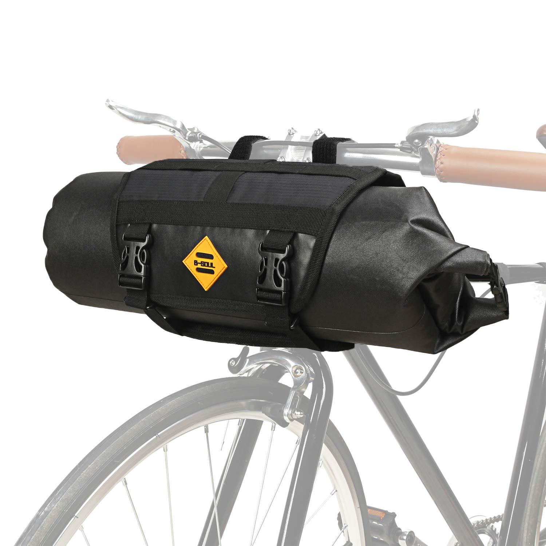 JUNPENG - Bolsa para Manillar de Bicicleta, 100% Impermeable, para Bicicleta de montaña, Carretera, MTB, Accesorios de Tubo Superior, Bolsas de Marco de liberación rápida, Cesta 3L-7L: Amazon.es: Deportes y aire libre