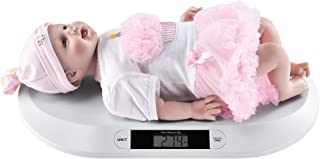 [pro.tec] Báscula Digital para bebés Balanza para Mascotas 55 x 33 x 2,7 cm Pantalla LCD hasta 20kg Función Tara Blanco