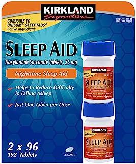 KIRKLAND SIGNATURE Kirkland Signature Sleep Aid Doxylamine Succinate 25 Mg, 384Count