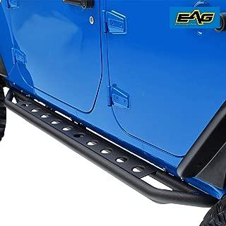 EAG Side Armor Steps Fit for 07-18 Jeep Wrangler JK 4 Door Nerf Bars Running Boards