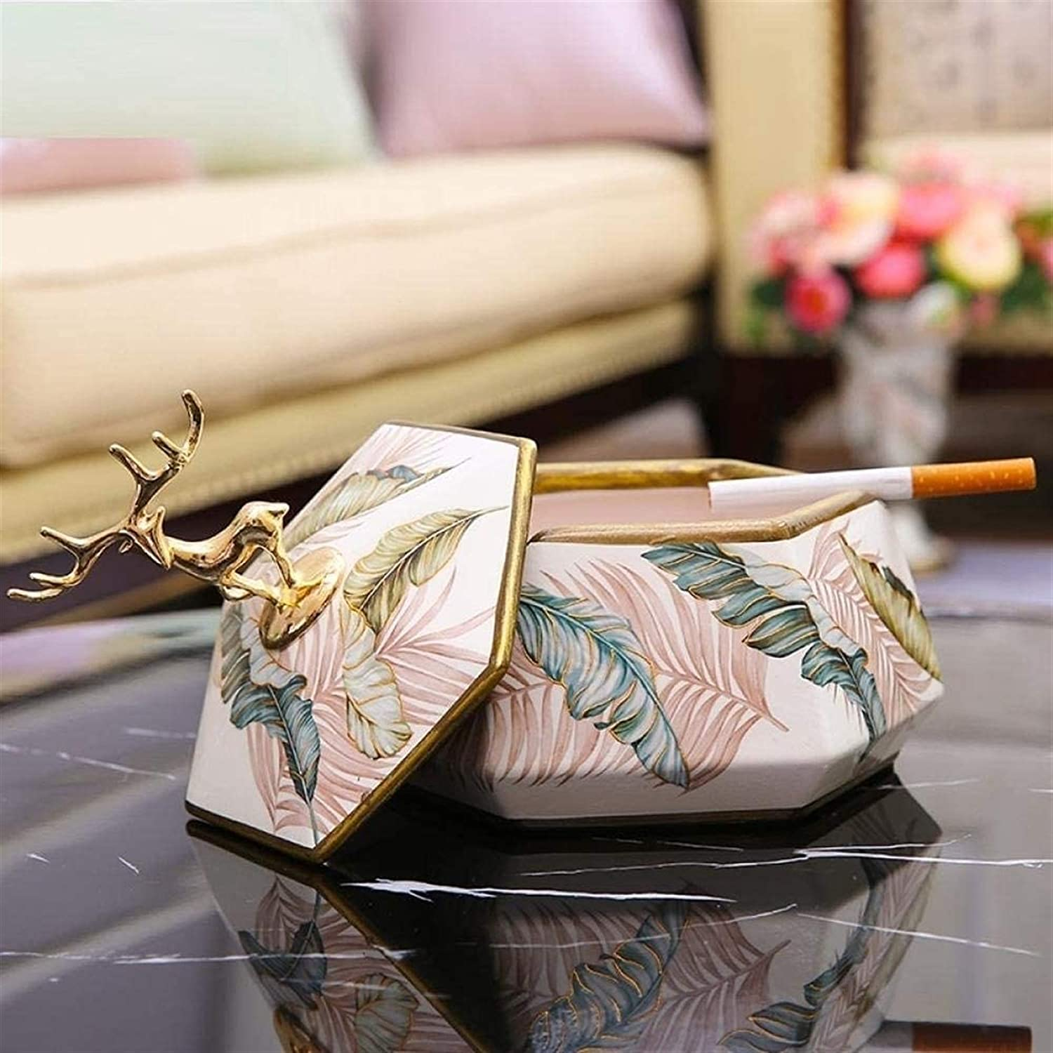 KEEBON Ashtray Ashtrays for Seattle Mall shopping Indoor Lid Ash Creative with