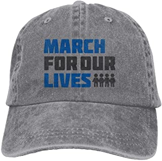 Unisexo Gorras de béisbol/Sombrero, Cowboy Hat Cap for Men Women March for Our Lives Call Slogan